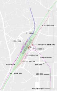 市内電車廃止直前の図